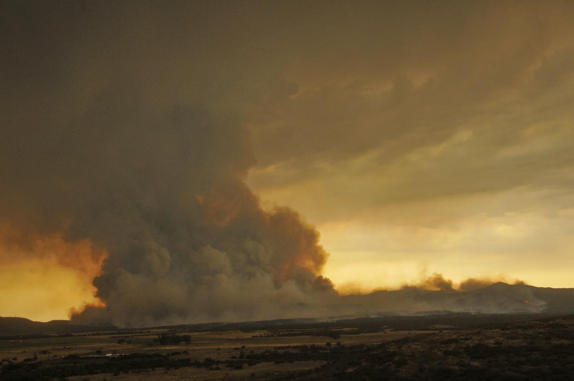 Yarnell Hill Fire from the north
